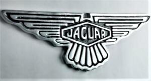 JAGUAR Aluminium Wall Sign - Car Logo - 50cm x 15cm - Polished & Painted