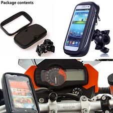 Motorcycle Waterproof Phone Case bag with Handlebar Mount Holder for iphone5/6/7
