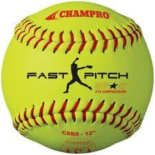 "Champro Dozen (12) CSB8-12"" ASA Approved, .47 COR, Durahyde Fastpitch Softballs"