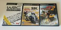 RACING GAME LOT World Rally Champ ATV Offroad Fury 2 Superbike PlayStation 2 PS2