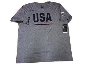 Team USA Nike Mens USA Basketball Dry Fit T-Shirt AV4348-091 Gray-Size XXL
