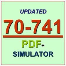 Latest 70-741 Verified Practice Test 741 Exam QA PDF+Simulator