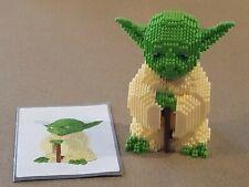 Star Wars Building Blocks Yoda Completed Mini Bricks Model DIY Toys w Manual