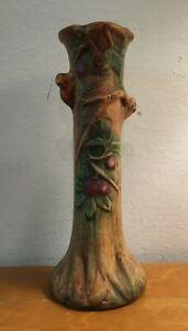 "Baldin Weller Art Pottery Vase  9.25"" Tall Apple Branch Naturalistic Antique"