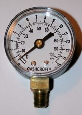 "15 Psi Pressure Gauge  2"" Dial 1/8"" NPT  Ashcroft 20W1005PH 01L 15#-AGG"