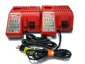 MILWAUKEE 48-59-1812 M12 M18 MULTI VOLTAGE CHARGER / LOT OF 2