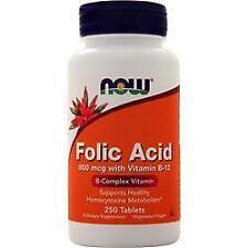 Folic Acid with Vitamin B12 800mcg, 250tabs