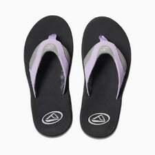 Reef Fanning Grey/purple Flip Flop Sandals Womens Footwear UK Size 6