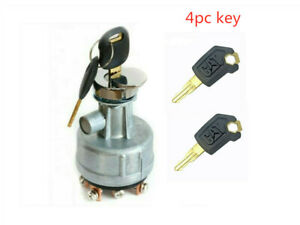 4Pc Key Ignition Switch Fit Caterpillar CAT 307 307B 307C 7Y-3918 5p8500 old new