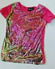 Girls youth Baby phat L sparkly sequined blouse