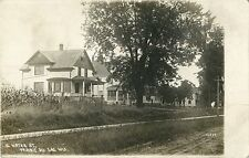 View Of The Homes On South Water Street, Prairie du Sac, Wisconsin WI RPPC 1910