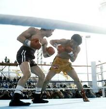 Old Boxing Photo Deukkoo Kim Looks To Block Punches From Ray Mancini