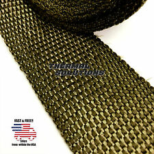 "5FT/60""L 2""W EXHAUST HEADER TURBO MANIFOLD PIPE LAVA HEAT SHIELD WRAP TAPE"