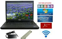 Dell Latitude Laptop/+wireless Windows 7 Pro+Charger+word app