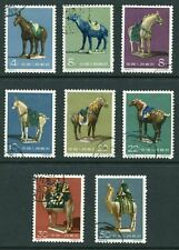 More details for china 1961 tang dynasty pottery set of 8 stamps sg1997-2004 used - db327