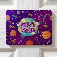 Personalised Space Planets Children's Bedroom Door Kids Name Sign Plaque DPE18