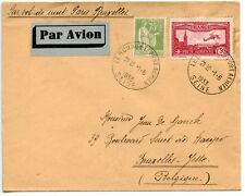 AIR MAIL PAR AVION / LE BOURGET PORT AERIEN / SEINE / BRUXELLES BELGIQUE 1933