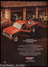 1985 GMC S-15 pickup advertisement, General Motors S 15 pickup with antique cars