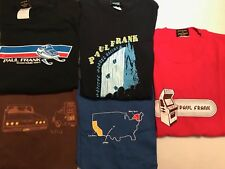 RARE VINTAGE LOT OF FIVE (5) PAUL FRANK T-SHIRTS MENS SIZE MEDIUM PRE-OWNED