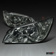 For 2001-2005 Lexus IS300 Smoke Lens Headlights Tinted Head Lamps Assembly Pair