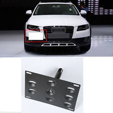 Tow Hook License Plate Bumper Mount Bracket Holder For Audi A4 A5 S4 S5 A7 S7
