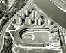 MLB 1963 Aerial View Polo Grounds New York Mets Black & White 8 X 10 Photo Pic