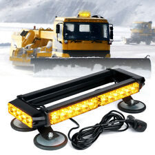 Yellow/Amber Rooftop LED Strobe Light Bar w/ Magnetic Base Double Side Flashing