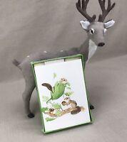 """Mead Chipmunks """"Woodsie Friendship Note"""" 10 Blank Cards Vintage 1982 Squirrels"""