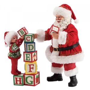 Enesco Possible Dreams Santa Building Blocks Father Christmas Figurine  Dept 56