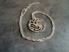 New Silver Game of Thrones Daenerys Targaryen Khalessi Dragon Pendant Necklace