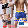 Men Summer Swim Shorts Swimwear Swimming Trunks Underwear Boxer Briefs Pants