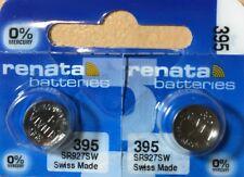 2-Renata 395 Battery SR927SW 399 Silver Oxide. Authorized Seller. Exp. 07/21