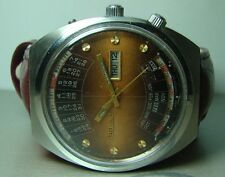 MENS VINTAGE ORIENT AUTOMATIC DAY DATE MONTH WEEK YEAR Y661 WRIST WATCH OLD USED