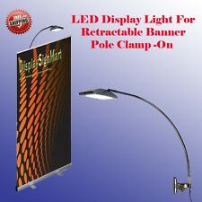LED Display Light Banner Stand Lamp Retractable Roll Up Trade Show Pole Clamp On