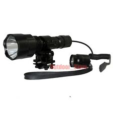 Ultrafire C8 Tactical CREE XM-L L2 LED 1Mode Flashlight +  Mount Pressure Switch