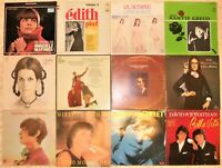 "French / Chanson, 12 Vinyl Record Lot, 10 LP, 1 DLP & 1 12"", 4 France & 1 Italy"