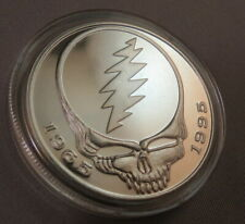 GRATEFUL DEAD SILVER PROOF OUNCE US oz COIN JERRY GARCIA ART skull coa case new