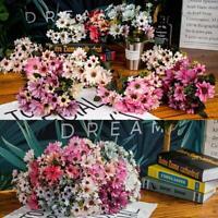 Artificial Flower Wedding Bouquet Silk Fake Daisy 5 Home Wedding Branches R9O7