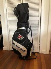 """Wilson Staff 9"""" Staff Tour bag  - With Hood And Pro Carry Strap"""