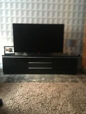 Modern Ikea Black And Chrome Tv Unit