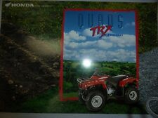 HONDA CATALOGUE QUAD TRX 300 4X 2 4X4 TRX 250 FOURTRAX FORMAN 400 RANDONNEE