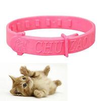 2X Adjustable  Pet Collar Cat Protection  Neck  Flea Tick Mite Louse Remedy DSUK