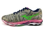 Mizuno Wave Paradox Pink/Blue/Green Athletic Running Shoes Women's Size 8 EUC