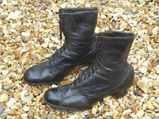 Antique  Victorian Edwardian Leather High Laced Ladies Boots