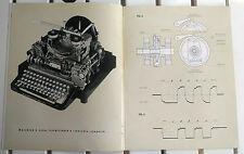 1940 Camillo OLIVETTI Telescrivente T1 demonstrative drawings IVREA Adriano 101