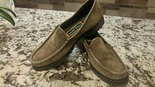 Women's COLE HAAN Size 7.5AA Brown Suede Loafers Slip On shoes.