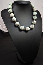 Lovely Vintage Kiwi Jasper Gemstones  beaded Necklace
