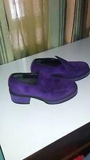 30e88b97c6a Rare Vtg 90's HUSH PUPPIES Amethyst Purple Suede Platform 60's 70's Loafers  ...