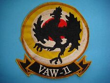 "VIETNAM WAR YE PATCH US NAVY CARRIER VAW-11 "" EARLY 11 """