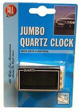 ALL RIDE JUMBO SELF ADHESIVE QUARTZ CLOCK WITH DATE FUNCTION DASHBOARD DIGITAL